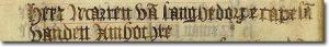 Schriftvoorbeeld 16de eeuw