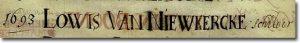 Schriftvoorbeeld 17de eeuw
