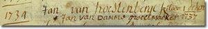 Schriftvoorbeeld 18de eeuw