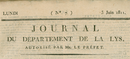 Journal du departement de la Lys